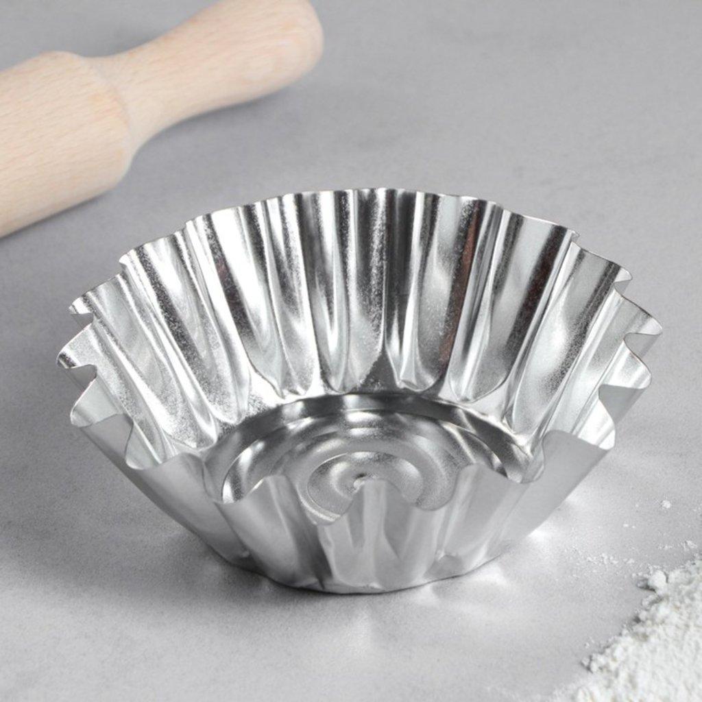 Металлические и разъёмные формы для выпечки: Форма для выпечки кекса  8х3 см в ТортExpress