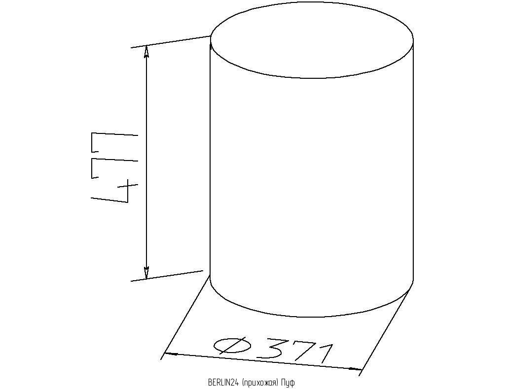 Банкетки и пуфики: Пуф BERLIN 24 в Стильная мебель