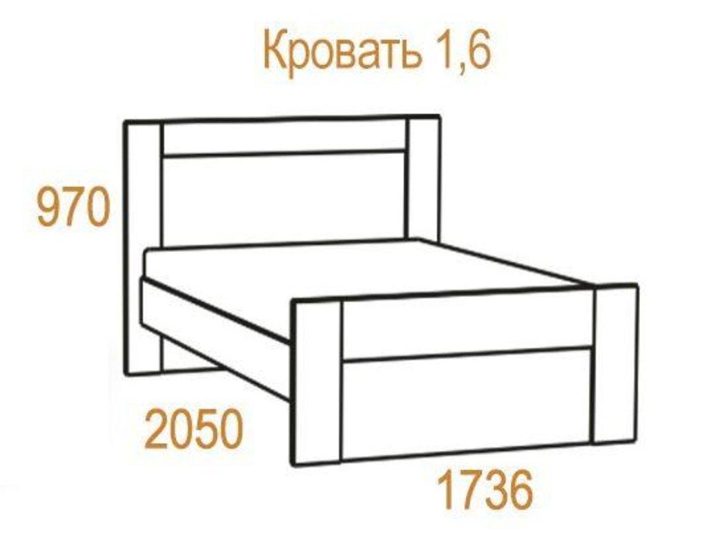 Кровати: Кровать Комфорт-2 (1600, мех. подъема) в Стильная мебель