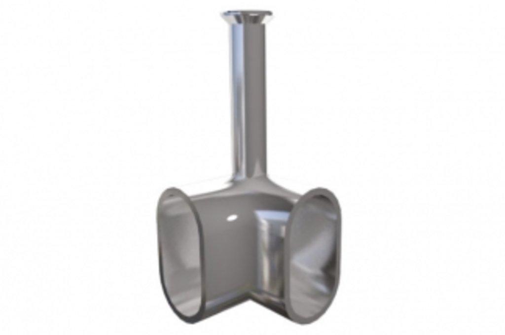 Аксессуары для шкафов: Держатель штанги 15х30 угловой, отделка никель в МебельСтрой