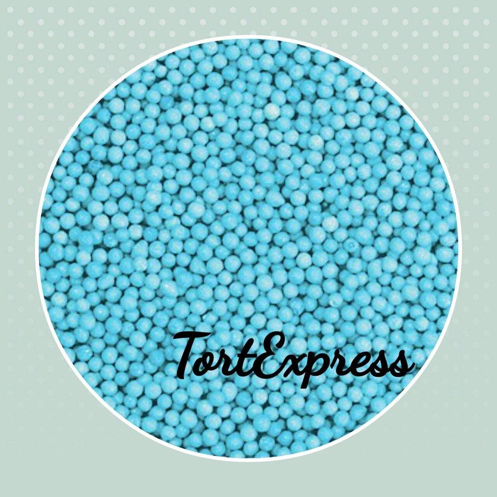 Посыпки декоративные: Шарики голубые 2 мм в ТортExpress