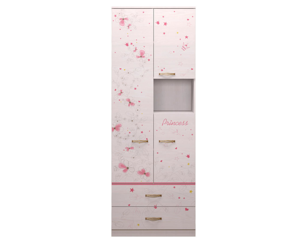 Детские шкафы и стеллажи: Шкаф комбинированный 14 Принцесса в Стильная мебель
