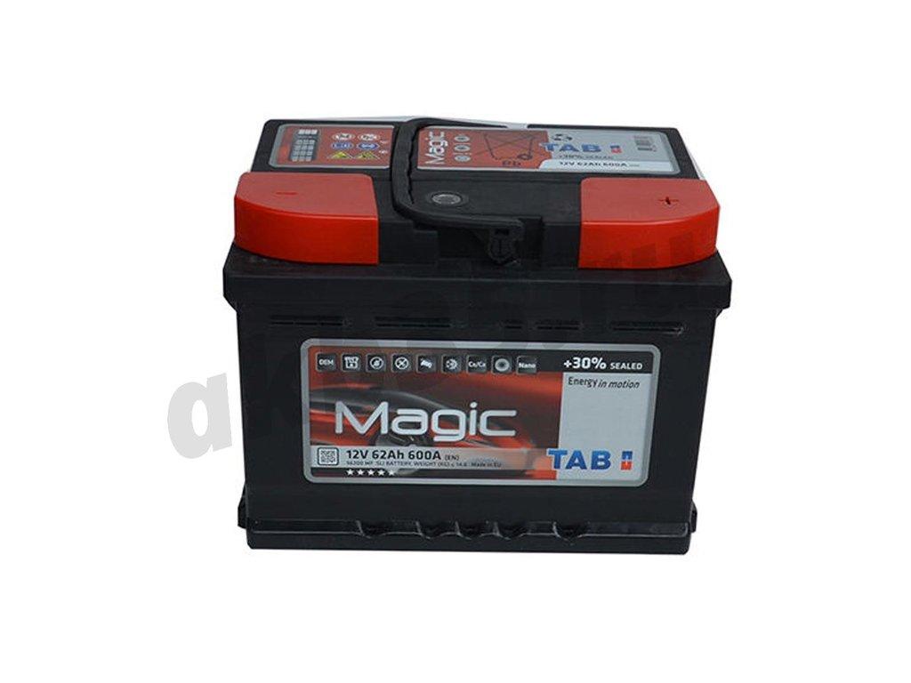 Аккумуляторы: TAB 62 А/ч Обратный Низкий MAGIC в Планета АКБ