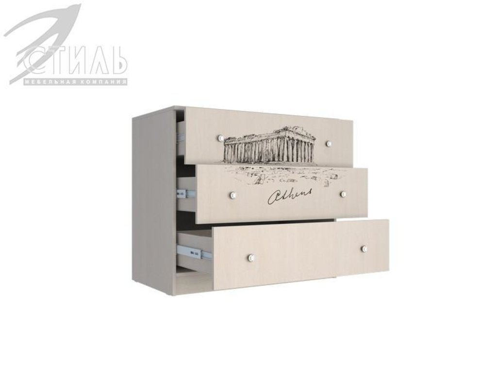 Мебель для детской Мийа - 3 (дуб молочный, фотопечать): Комод К-12 Мийя - 3 в Диван Плюс