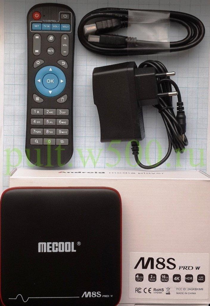 Android TV BOX, SMART приставки: Андроид ТВ приставка, Android TV BOX, 2GB x 16GB ( MECOOL M8S PRO W ) в A-Центр Пульты ДУ