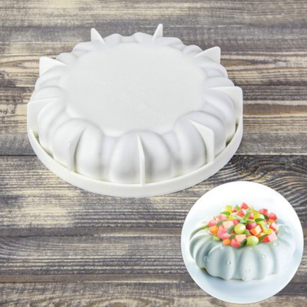 """3d формы: Форма для муссовых десертов и выпечки 19×4,7 см """"Муссиль"""" в ТортExpress"""