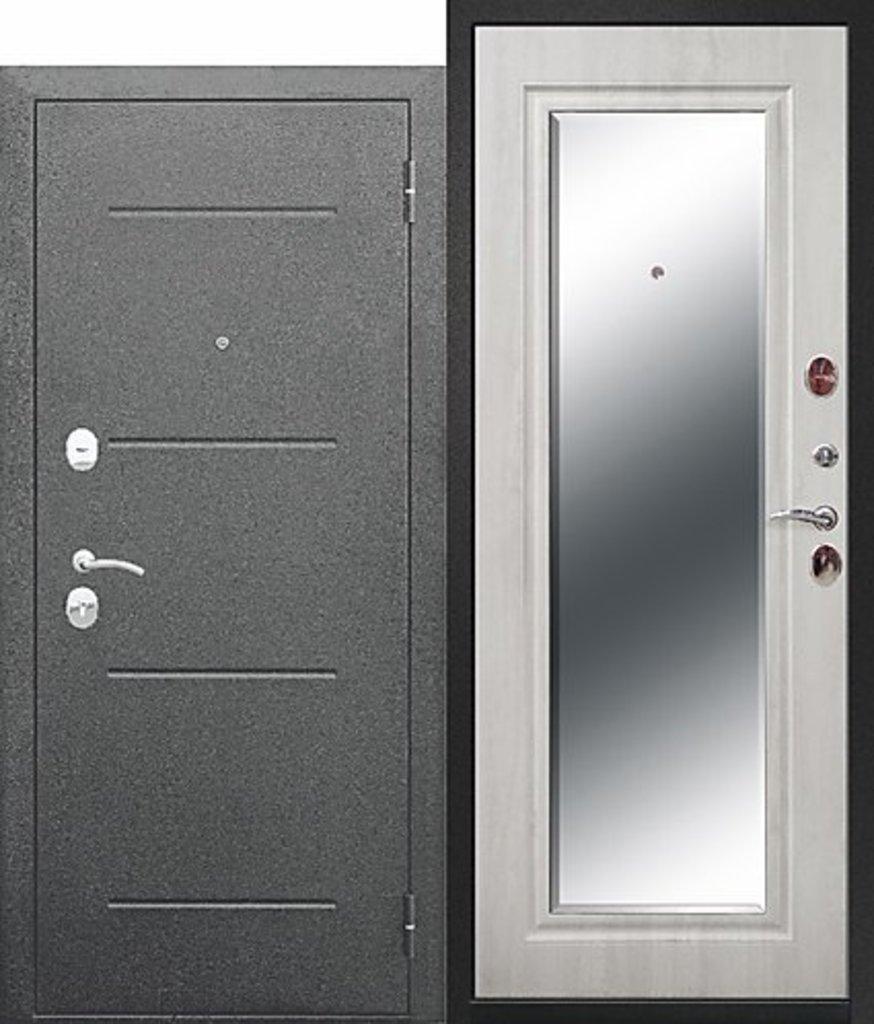 Входные двери (бюджет) от 70-80мм: 7,5 см GARDA Серебро Зеркало Фацет в STEKLOMASTER