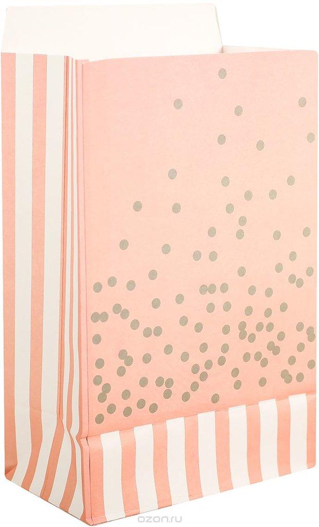 Упаковка: Пакет подарочный, цвет: персиковый, 20 х 13 х 75 см. в ТортExpress