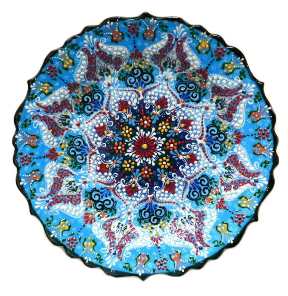 Казаны. Узбекская и турецкая посуда: Тарелка Турецкая в Сельский магазин