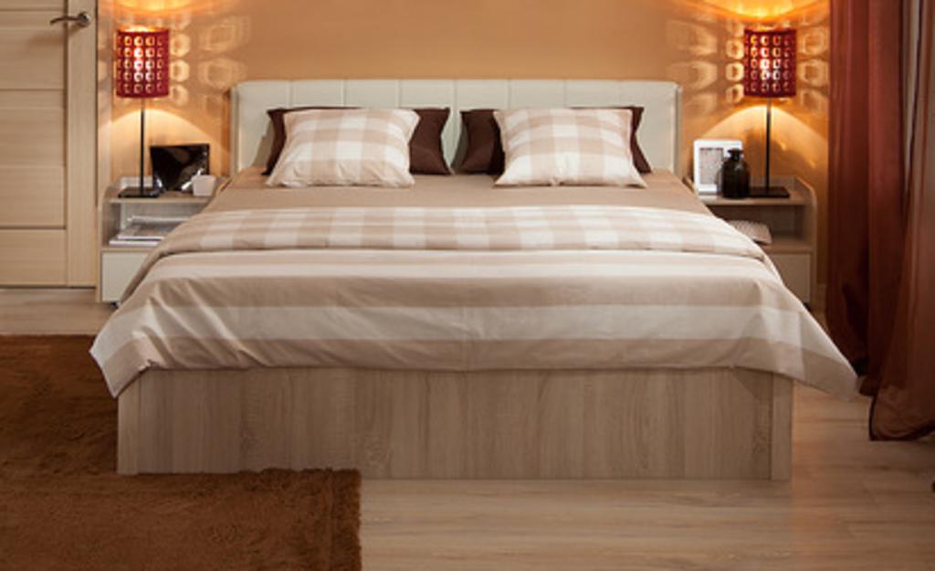 Кровати: Кровать BERLIN 33 (1400, орт. осн. металл) в Стильная мебель