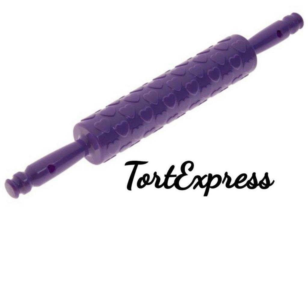 Инструменты для работы с мастикой: Скалка сердца в ТортExpress