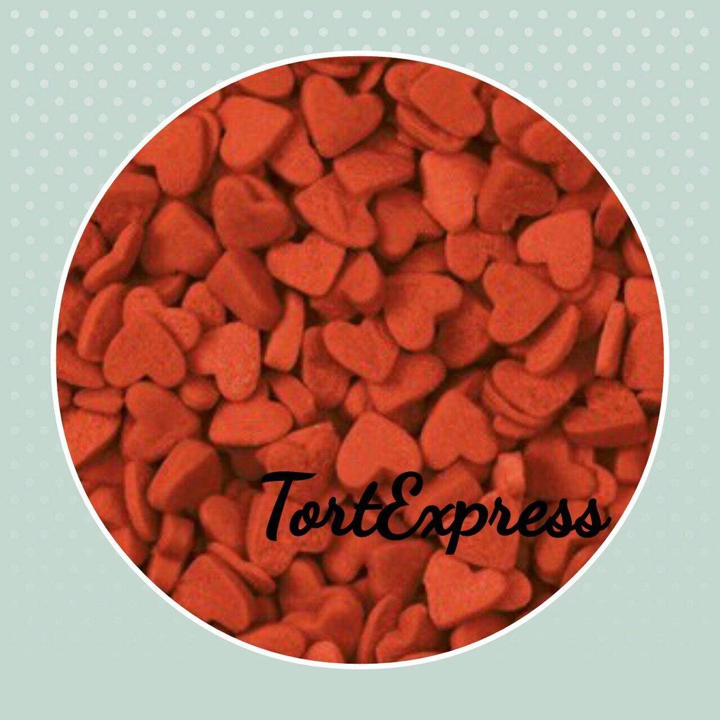 """Украшения, декор: Посыпка сахарная """"Сердечки красные"""" 750г в ТортExpress"""