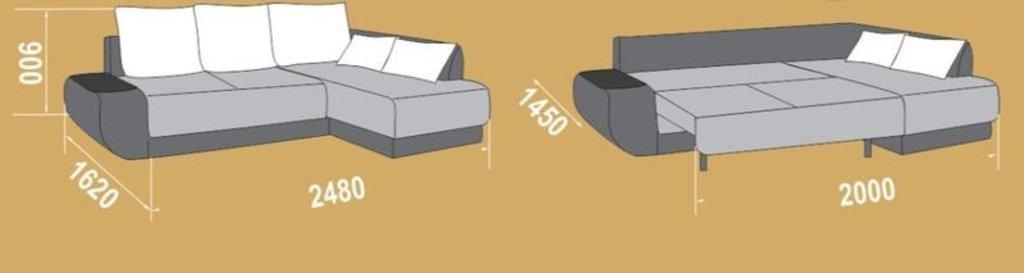 """Угловые диваны: Диван-кровать угловой Престиж (левый """"Г"""" - правый """"7"""") в Уютный дом"""