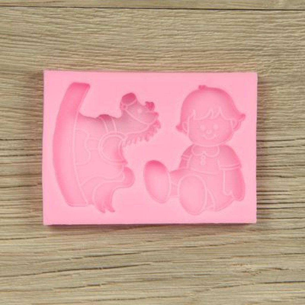 """Молды: Молд силиконовый 10×7 см см """"Малыш и лошадка"""" в ТортExpress"""