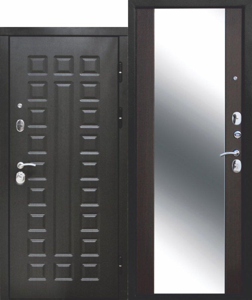Двери завода Феррони: 12 см СЕНАТОР ЗЕРКАЛО МДФ/МДФ Венге/Венге в Модуль Плюс