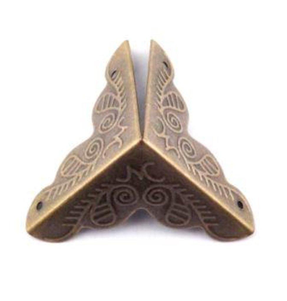 Шкатулки: Декоративный уголок  для шкатулок 35*35мм бронза FL-217 1шт в Шедевр, художественный салон