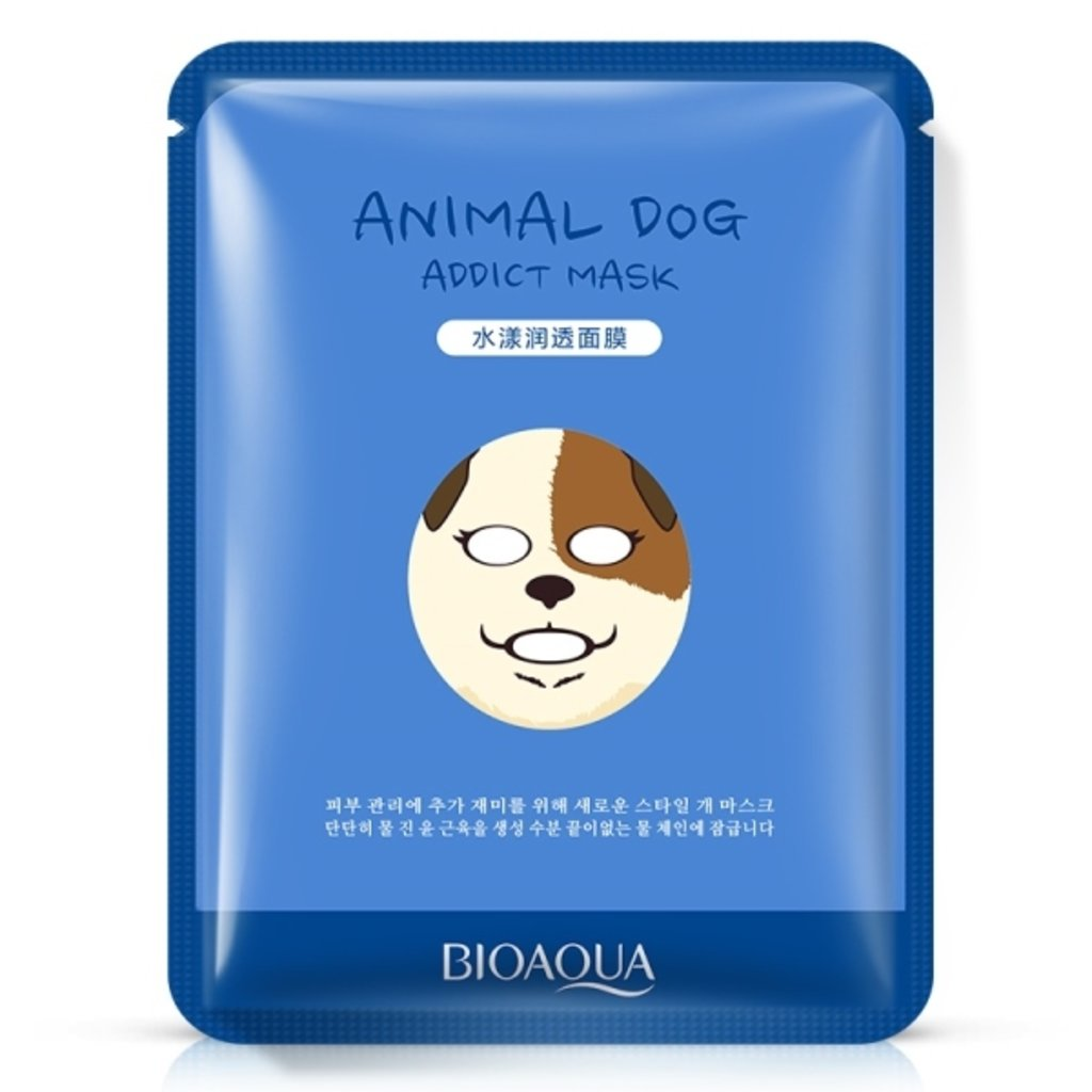 """Маски: Маска тканевая Bio Aqua Mask """"Animal Face - Dog"""" в Мой флакон"""