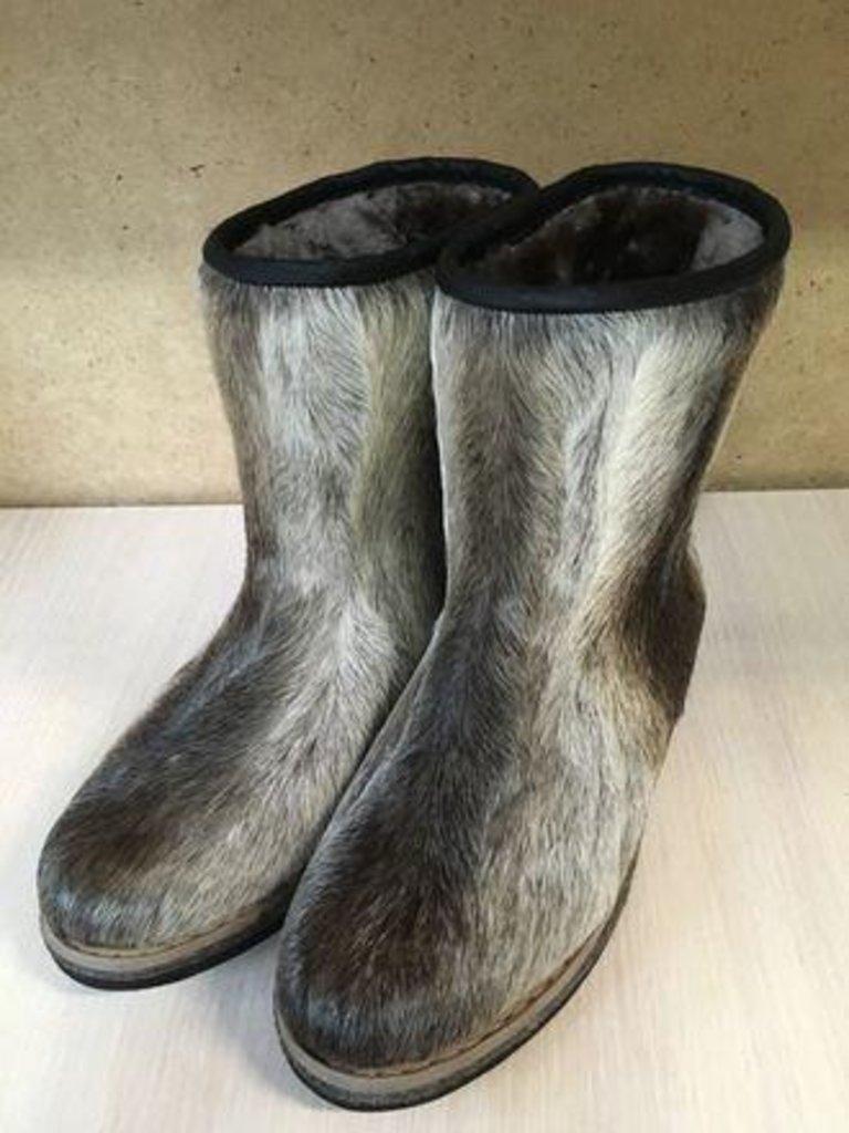 Унты, сапоги монгольские: Унты мужские короткие (сохатый) в Сельский магазин