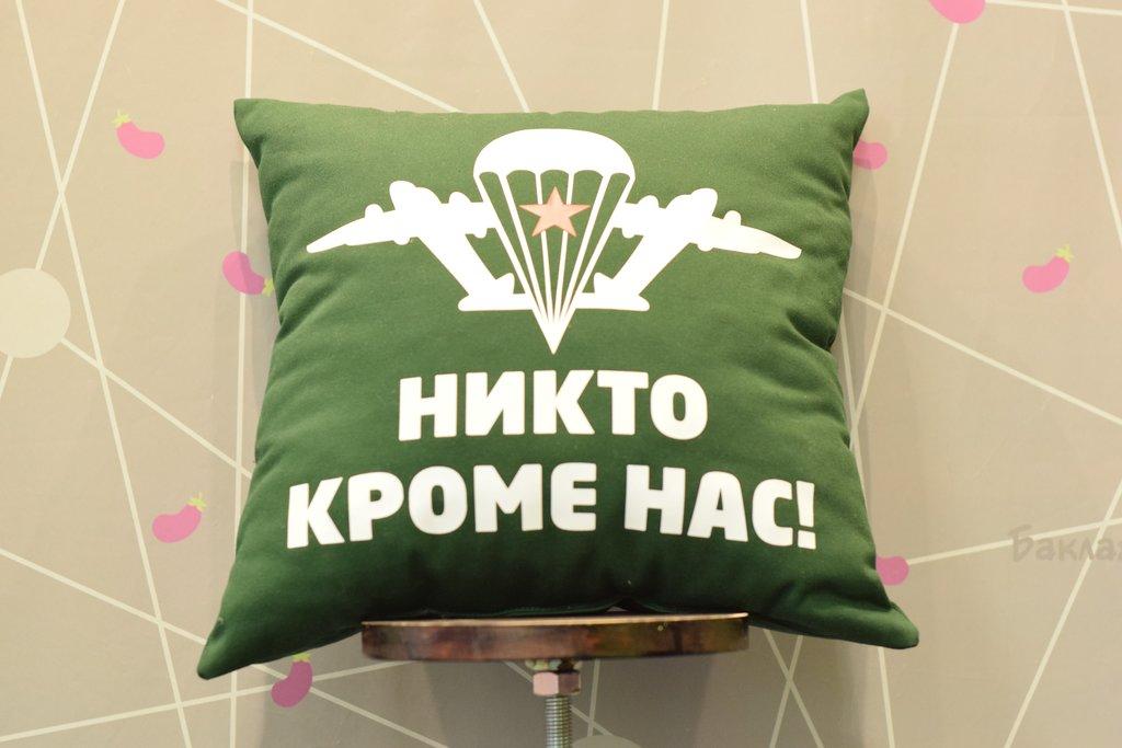 Декоративные подушки: Подушка тканевая в Баклажан, студия вышивки и дизайна