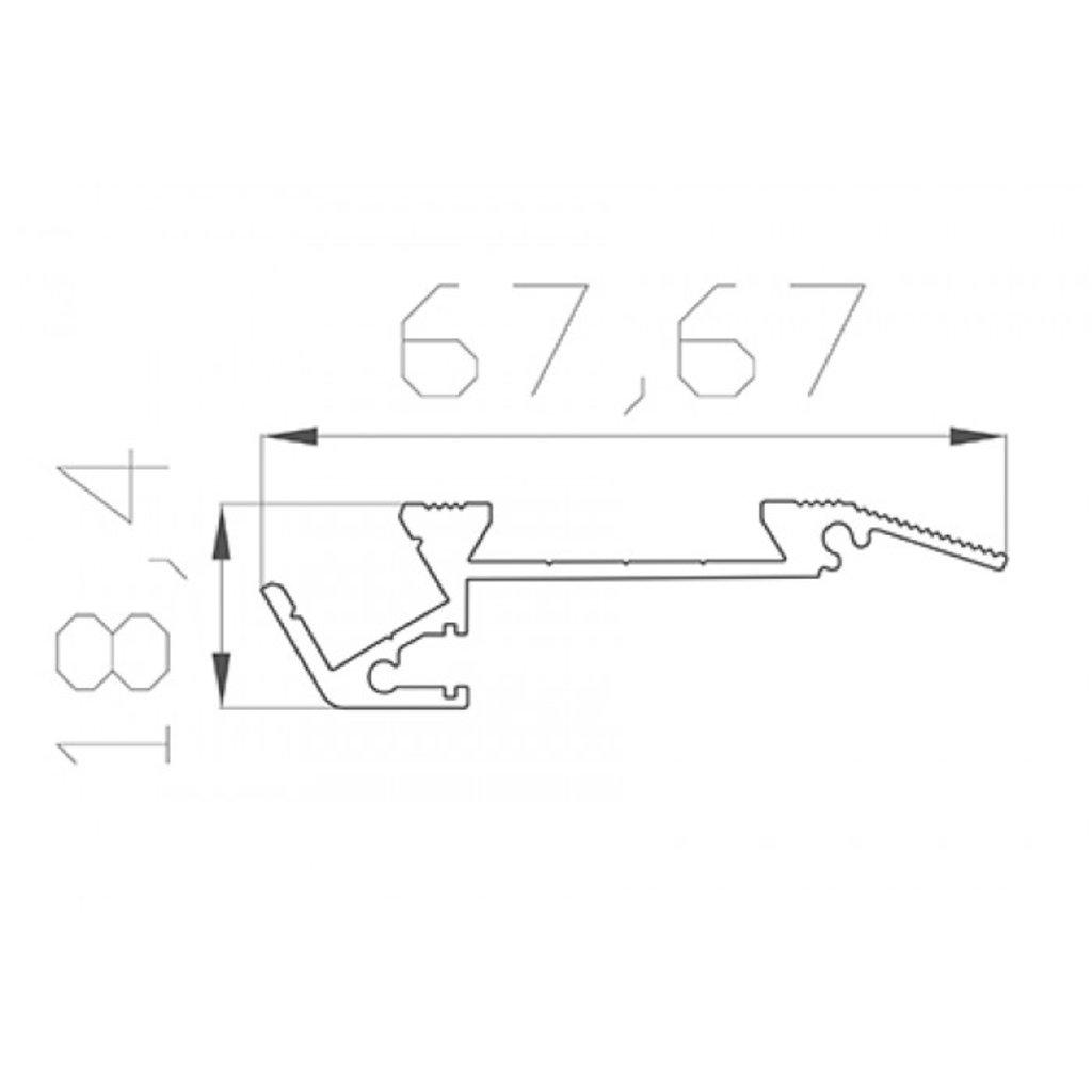 Алюминиевый профиль: REXANT профиль для ступеней без резиновой вставки алюминиевый 6718-2 2 м, 146-243 в СВЕТОВОД