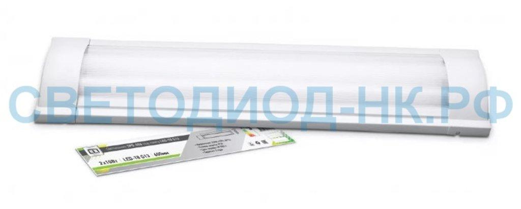 Линейные светильники: Светильник  под LED лампу SPO-405 2х18Вт 230В LED-Т8 G13 IP40 1200 мм LLT в СВЕТОВОД