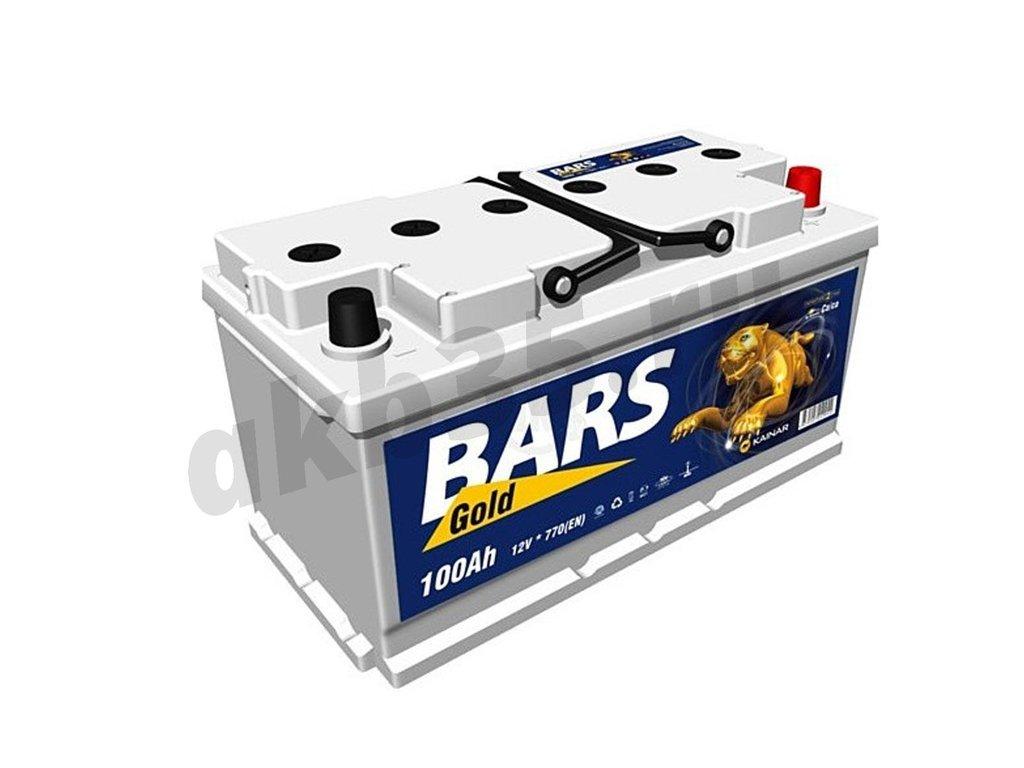 Аккумуляторы: BARS 100 А/ч Обратный GOLD в Планета АКБ