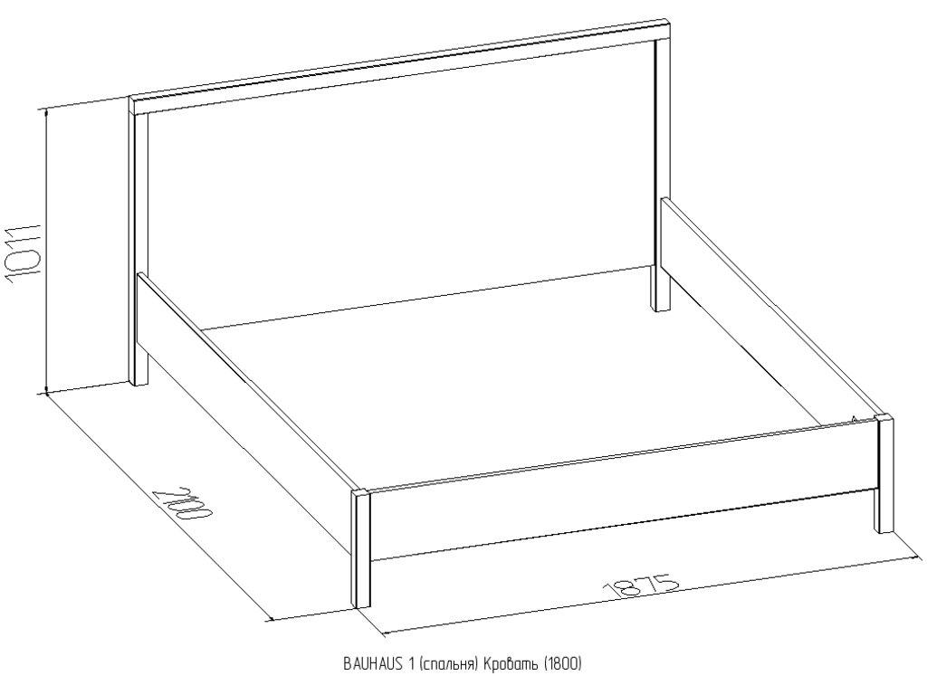 Кровати: Кровать BAUHAUS 1 (1800, орт. осн. металл) в Стильная мебель