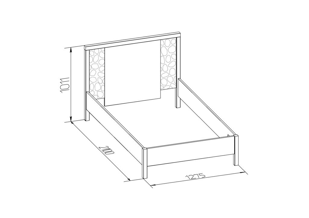 Кровати: Кровать WYSPAA 24 (1200, орт. осн. металл) в Стильная мебель