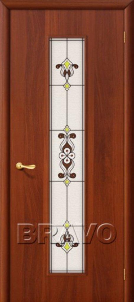 Двери ламинированные BRAVO: 23Х Л-11 (ИталОрех) в STEKLOMASTER