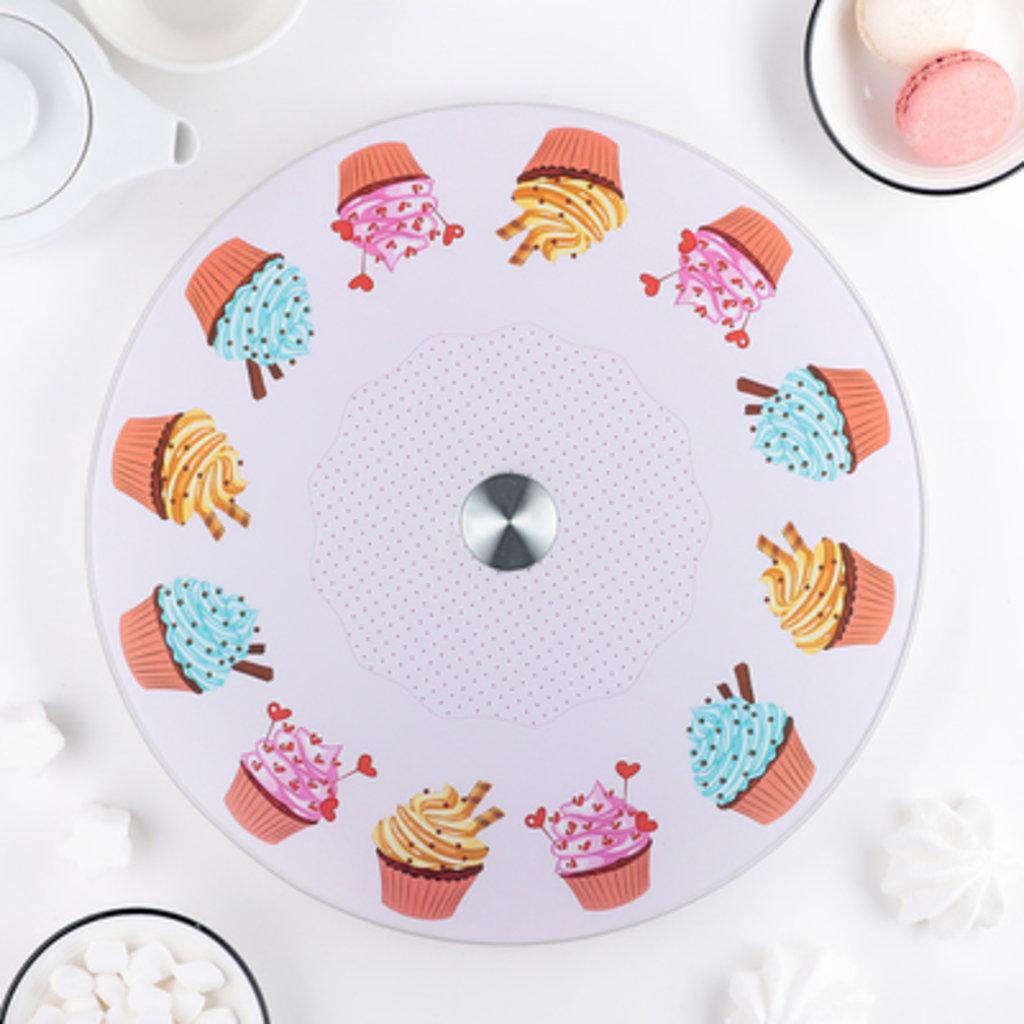 """Подставки: Подставка для торта вращающаяся """"Пирожные"""" 30 см в ТортExpress"""