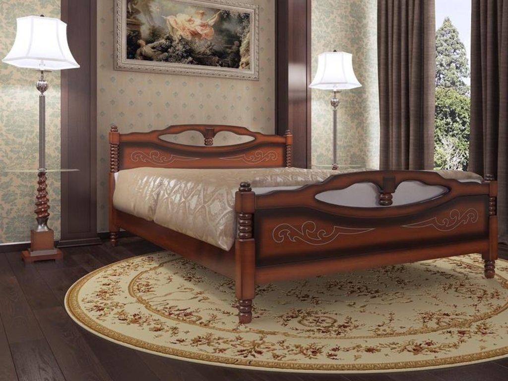 Кровати: Кровать Елена-4 (массив) в Уютный дом