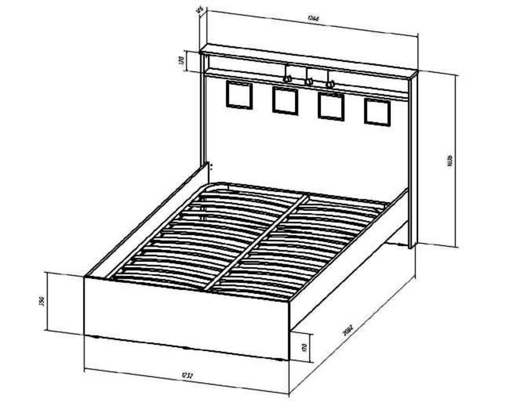 Кровати: Кровать Коста-Рика (1200, орт. осн. дерево) в Стильная мебель