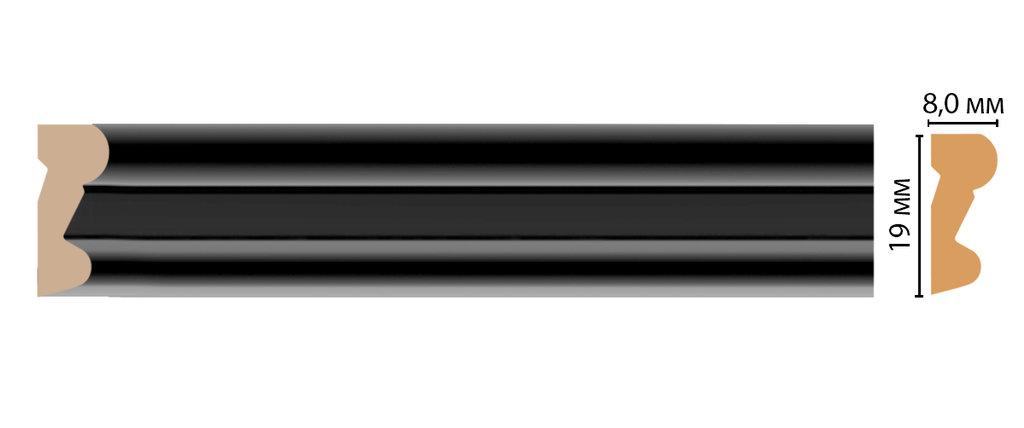 Молдинги: Цветной молдинг DECOMASTER D007-195 (19*8*2400) в Мир Потолков