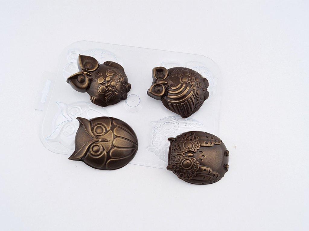 Пластиковые формы для шоколада: Форма для шоколада Шоко-совы в ТортExpress