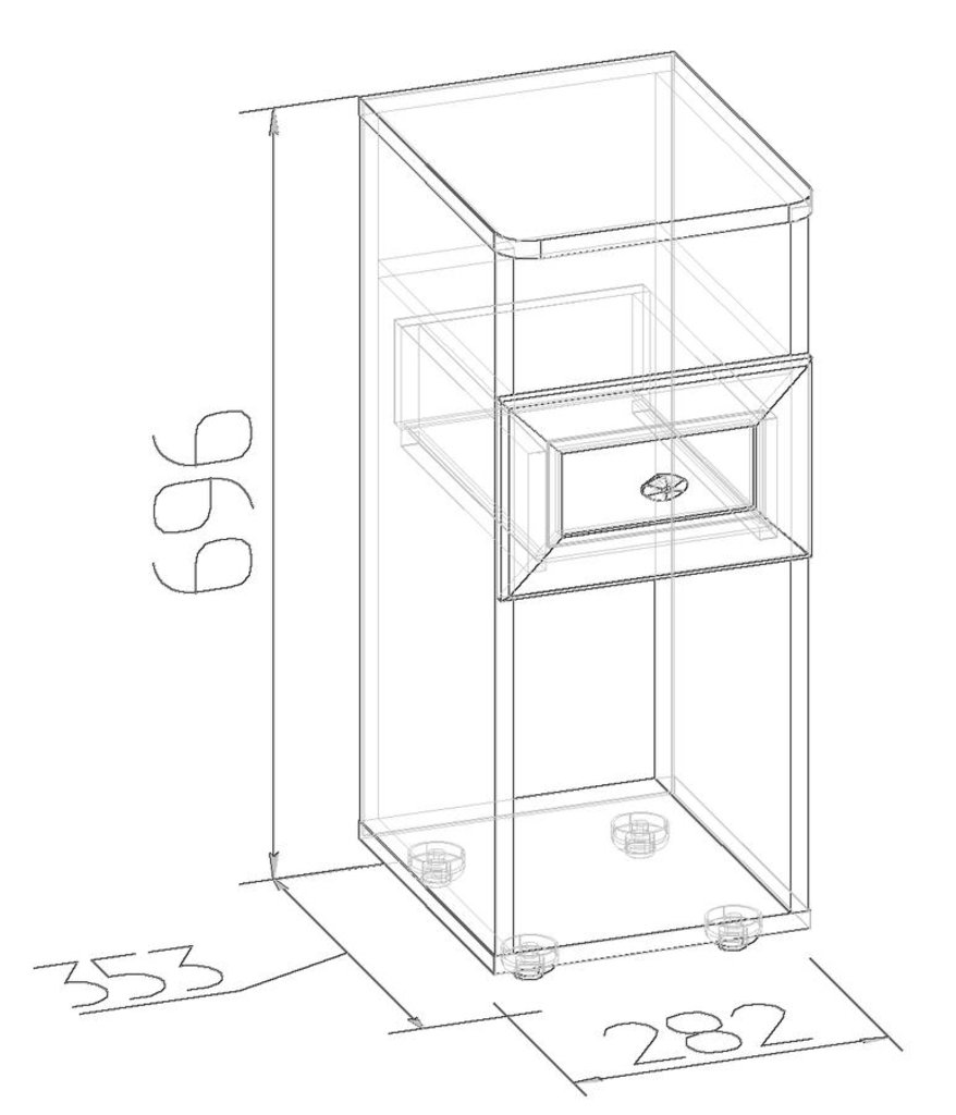 Прикроватные тумбочки: Тумба прикроватная Sherlock 51 в Стильная мебель