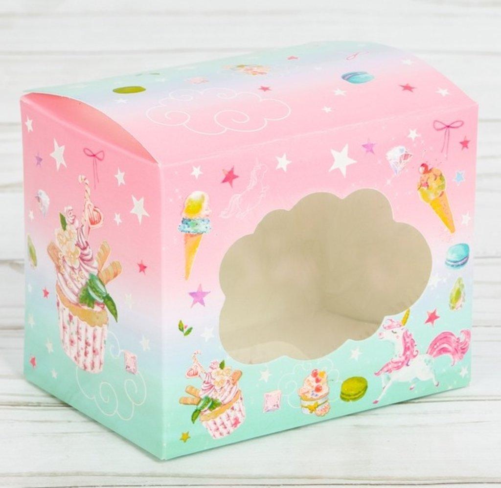 """Коробки для капкейков: Коробочка для капкейка """"Побалуй себя"""", 7 х 9 х 7,5 см в ТортExpress"""