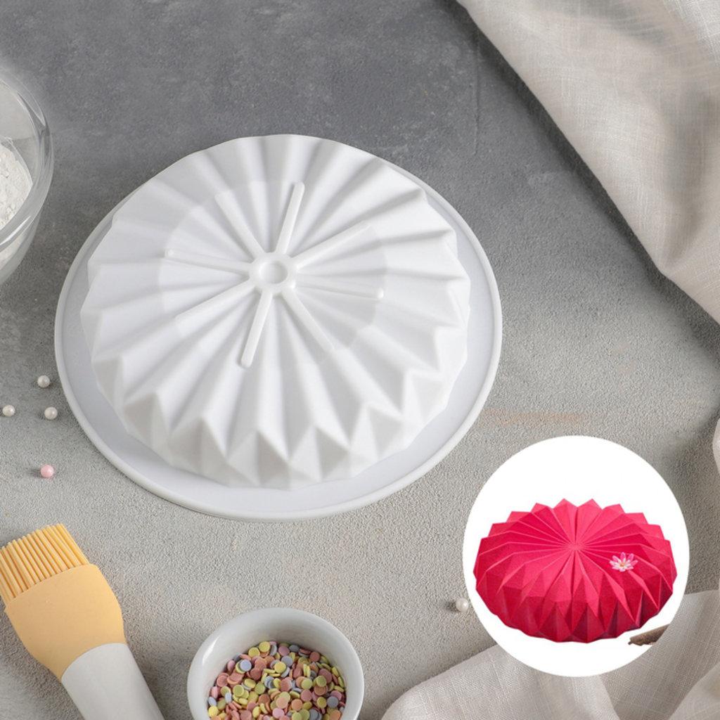 3d формы: Форма для муссовых десертов и выпечки «Оригами», 18,5×18,5 см, цвет белый в ТортExpress