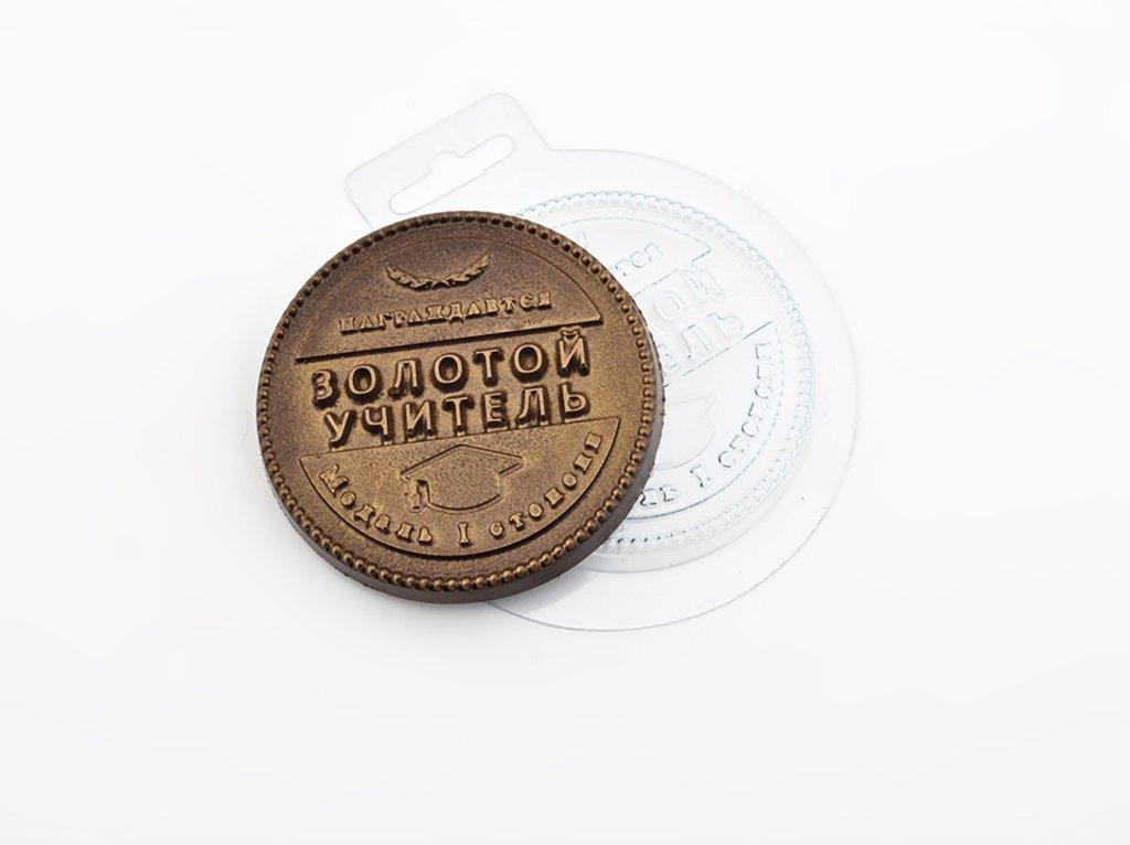 Пластиковые формы для шоколада: Форма для шоколада Медаль Лучший учитель в ТортExpress