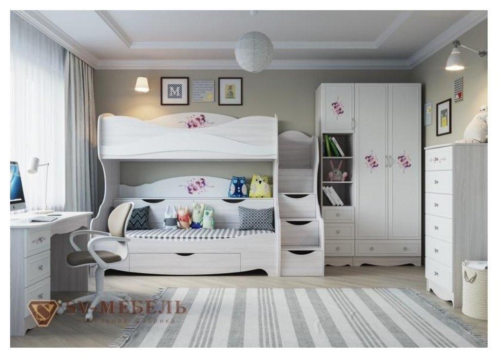 Мебель для детской Акварель 1: Шкаф двухстворчатый с одним ящиком Акварель 1 в Диван Плюс