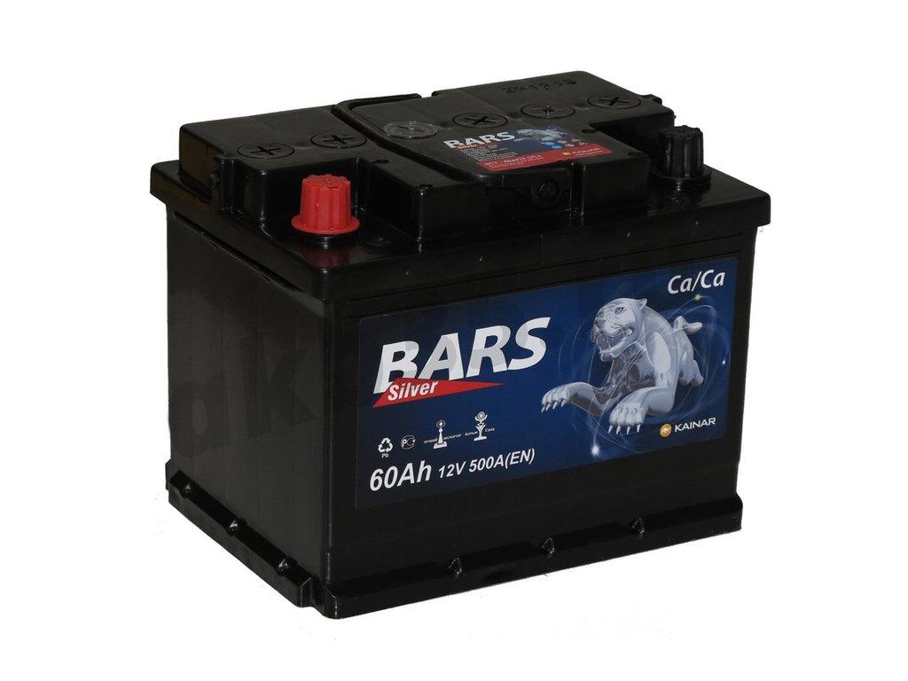 Аккумуляторы: BARS 60 А/ч Прямой Silver в Планета АКБ