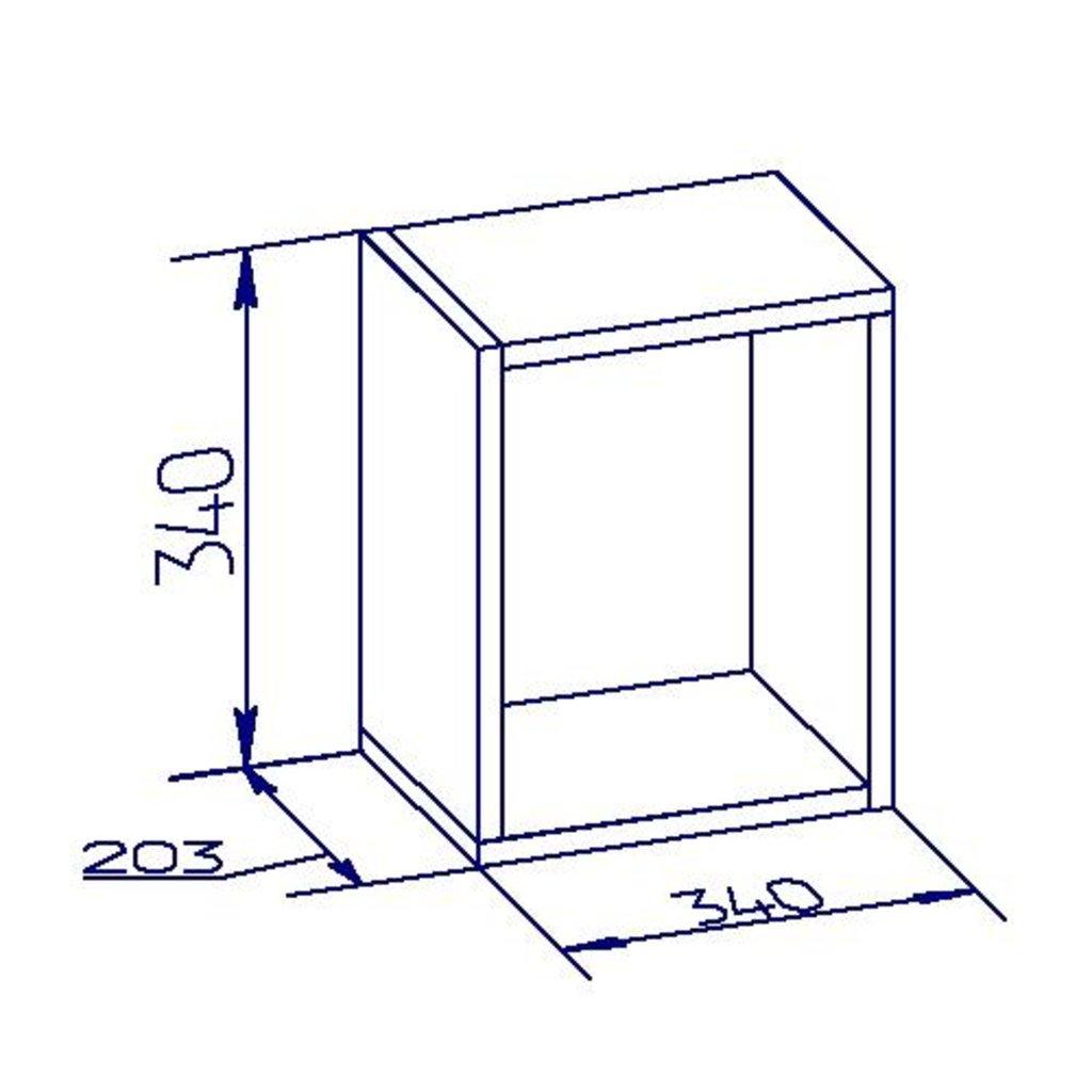 Полки детские: Куб 1 Nature 98 в Стильная мебель