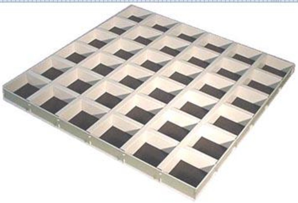 Потолки Армстронг (минеральное волокно): Потолочная плита Cellio (Целио) C25  120x120X37   Black (assembled) в Мир Потолков