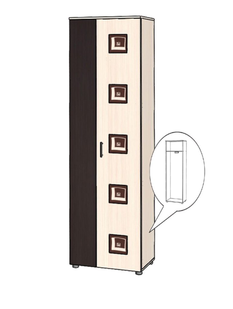 Шкафы, общие: Пенал Кристина в Стильная мебель