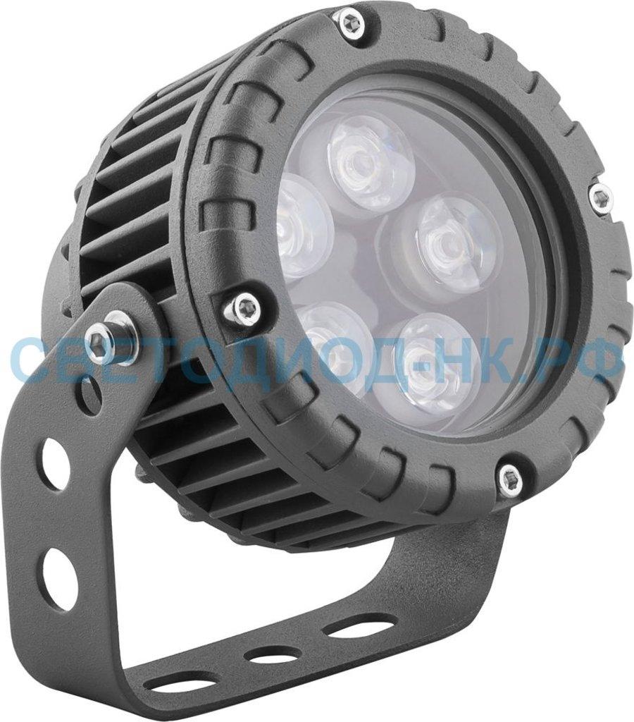 Архитектурные светильники: LL-882 Светодиодный прожектор, D95xH130, IP65 5W 85-265V, холодный белый в СВЕТОВОД