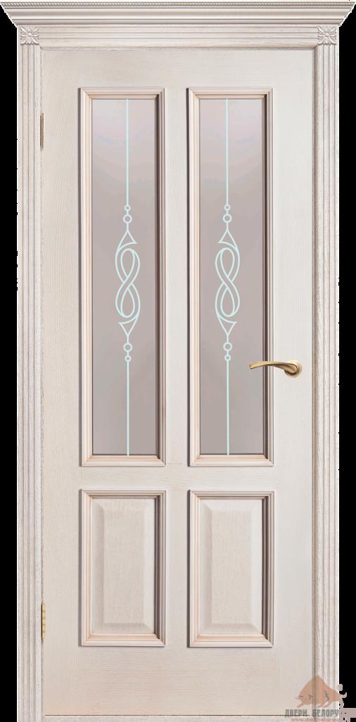 Двери Белоруссии  шпонированые: Прага (слоновая кость) в STEKLOMASTER