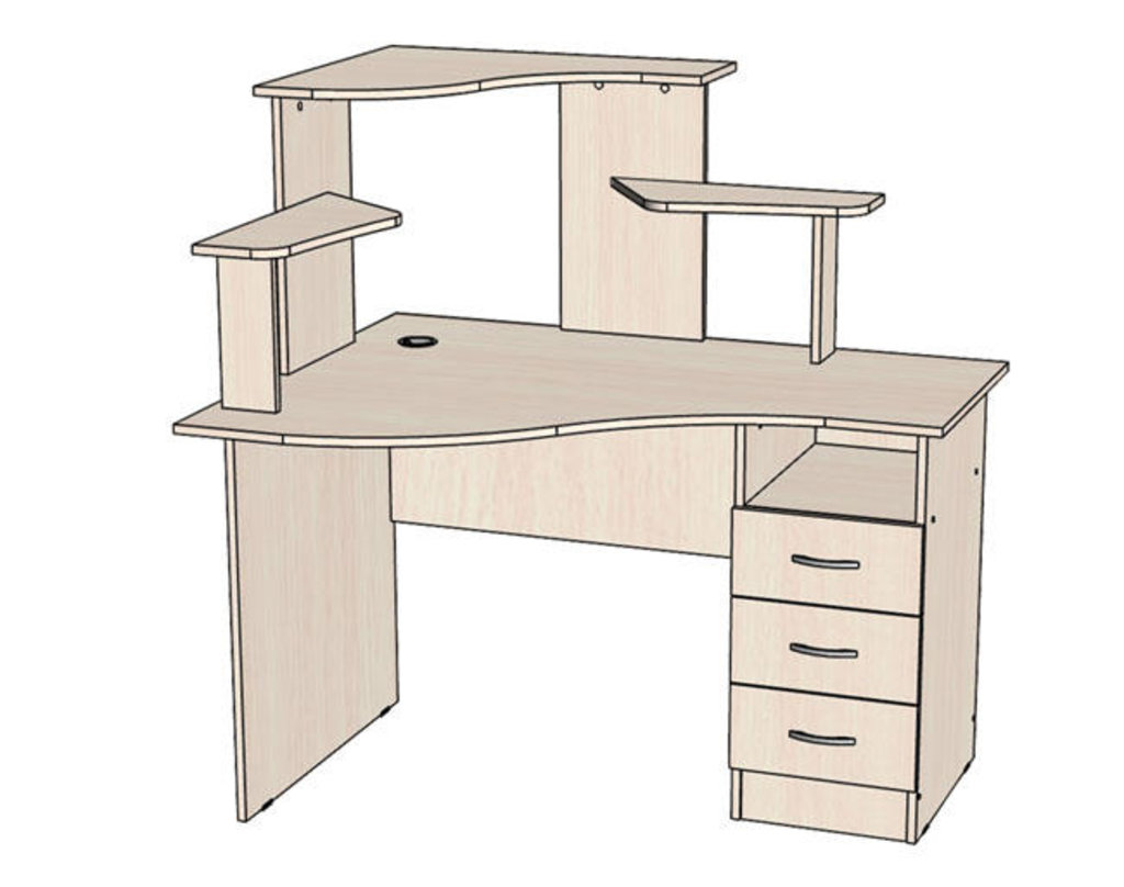Столы компьютерные: Стол комп. «Школьник» левый или правый в Уютный дом