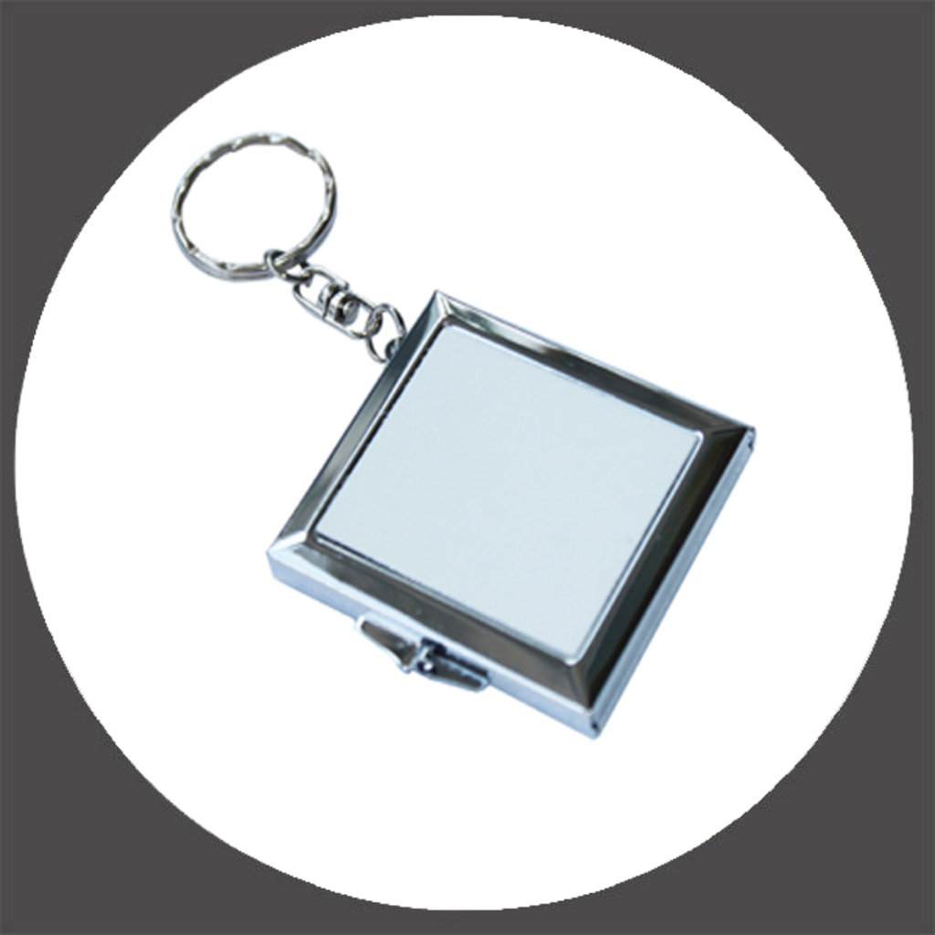 Брелоки: Зеркало - брелок, квадратный под сублимацию в NeoPlastic