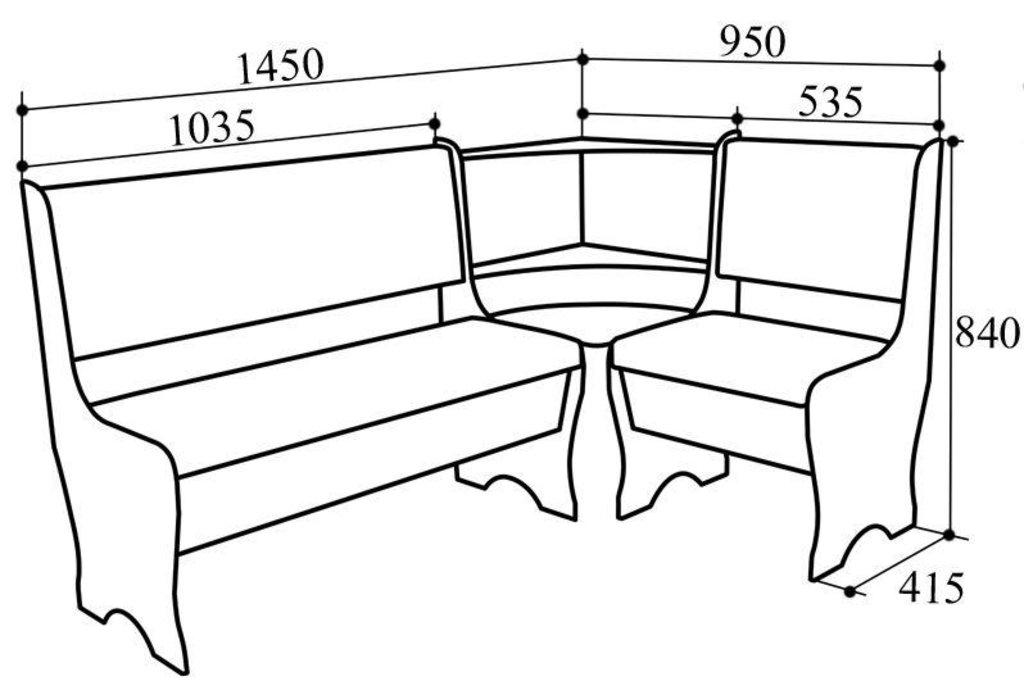 Кухонные уголки: Кухонный уголок КУ-16 в Уютный дом