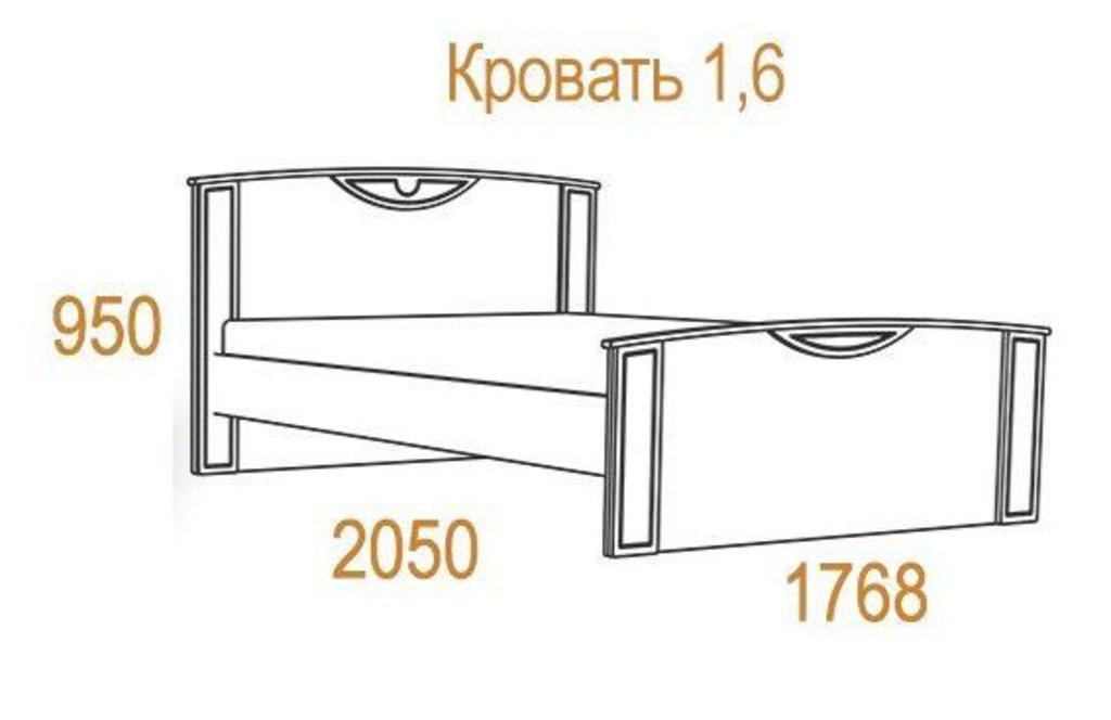 Кровати: Кровать Комфорт-2 (1600, орт. осн. металл) в Стильная мебель