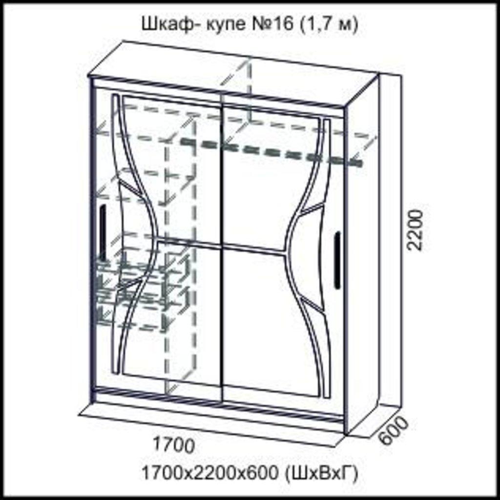 Шкафы: Шкаф-купе №16 в Диван Плюс